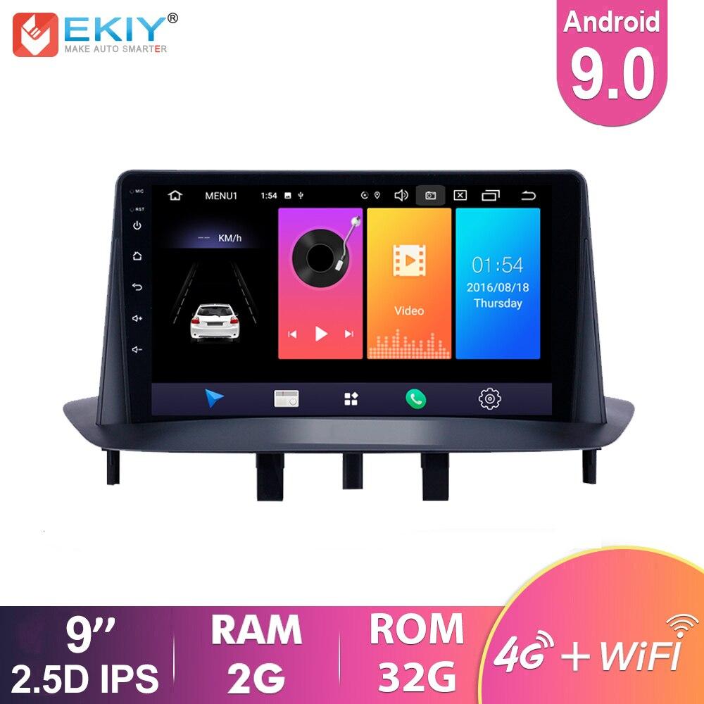 Автомагнитола EKIY 9 IPS Android 9,0 для Renault Megane 3 2009-2014, навигация GPS, мультимедиа, видео плеер, Wi-Fi, BT стерео 2Din DVD