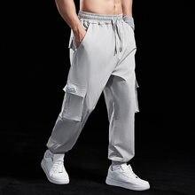 Mens Leisure Cargo Pants Elastic Multi-pocket Joggers Sweatpants Autumn Track Pants Men Gym Fitness Workout Trousers Sportswear