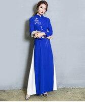 Long sleeve Asian dress Vietnam Ao dai women girl dresses
