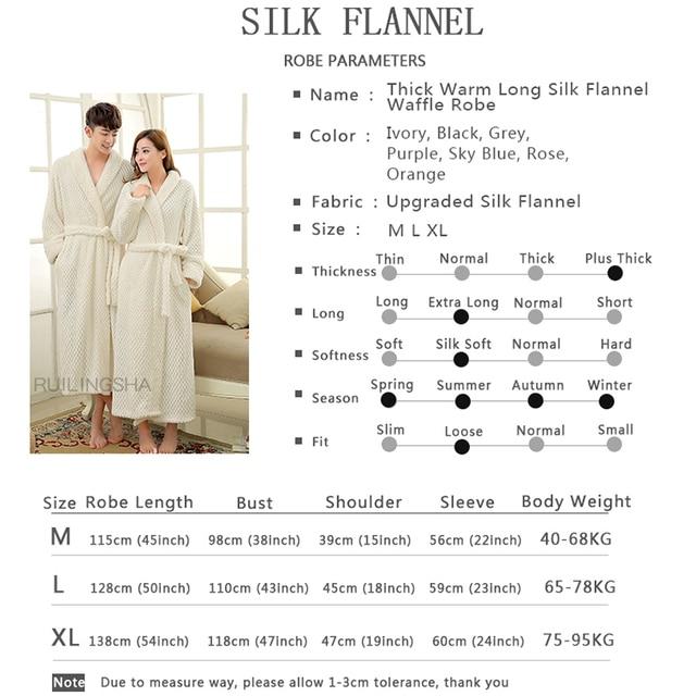 Thick Warm Unisex Winter Flannel Bathrobe  6