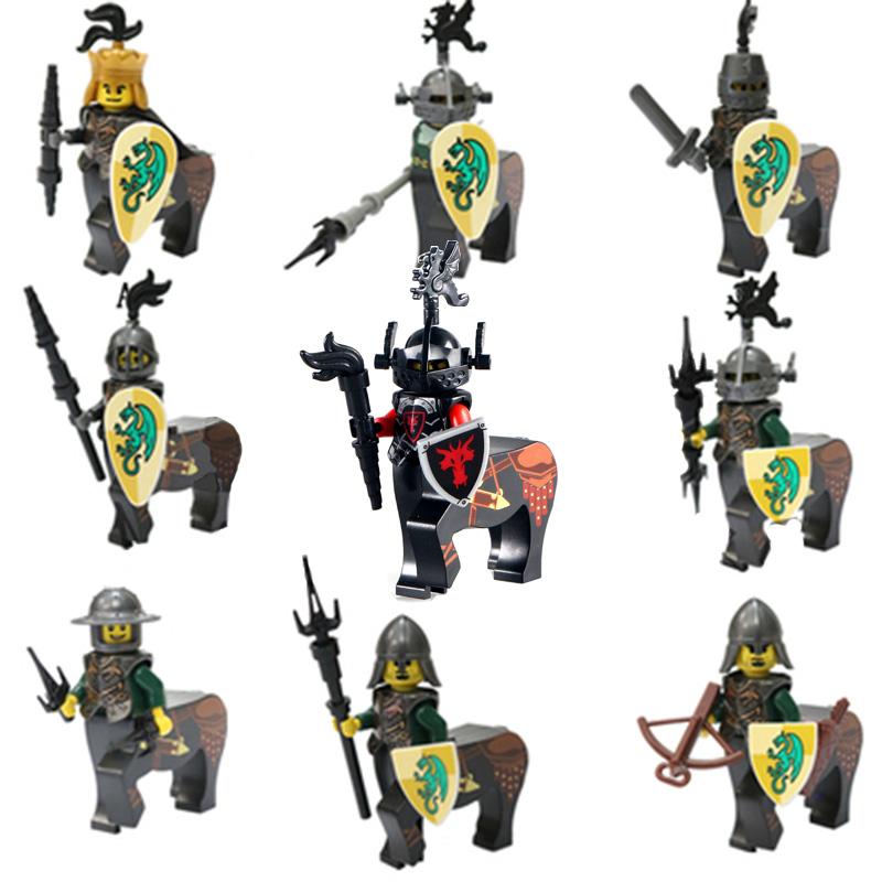 Building Block Fit Lego Centaur Medieval Soldier Accessories Ancient Rome Cavalry Ninjagoed Dragon Knight  Middle Ages Equipment
