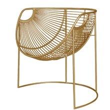 Металлический каркас, железный стул для отдыха, современный простой креативный железный стул, домашний, для гостиной, ленивый, для одного кабинета, балкон, золотистый стул
