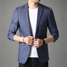Blazer Men Costume Coat Jacket Luxury Suit Handsome Plus-Size Fashion Young 4XL Homme
