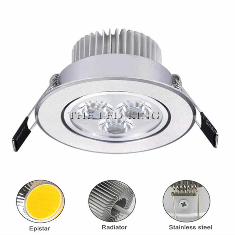 1 Pcs Super Bright LED Downlight Ceiling Perak 3W 9W 12W 15W 21W Warm White/Dingin Putih Lampu LED AC 220V 230V Indoor Spot Light