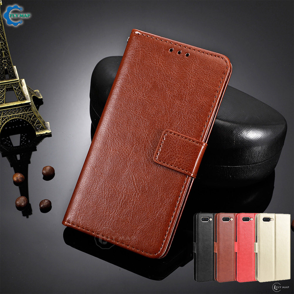 Vintage Flip Case For OPPO A5 AX5 A3S R15 Neo Wallet Phone Soft PU Leather Bag Silicone Cover for OPPO Realme C1 Capa Coque