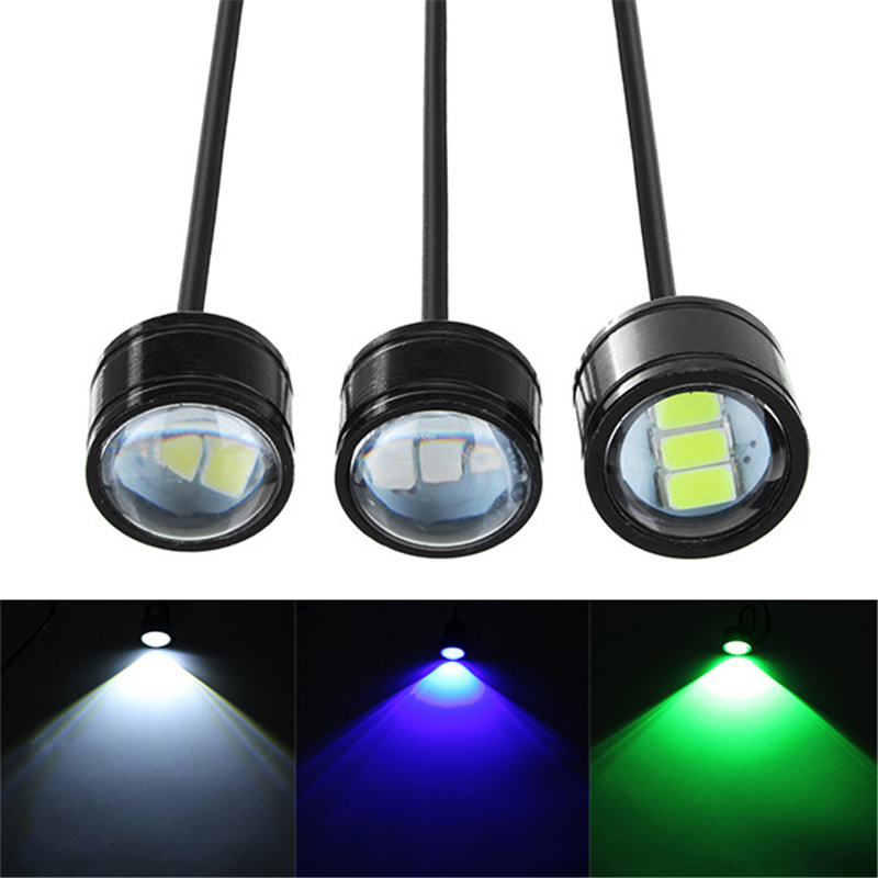 12V Motorcycle Handlebar LED Headlights Running Spotlight Blue/Green/White Waterproof 3 Color Universal For Scooter Motorcycle