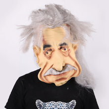 Halloween Einstein Masker Latex Masker Grappige Truc Bar Spookhuis Bal Props Party Cultuur(China)