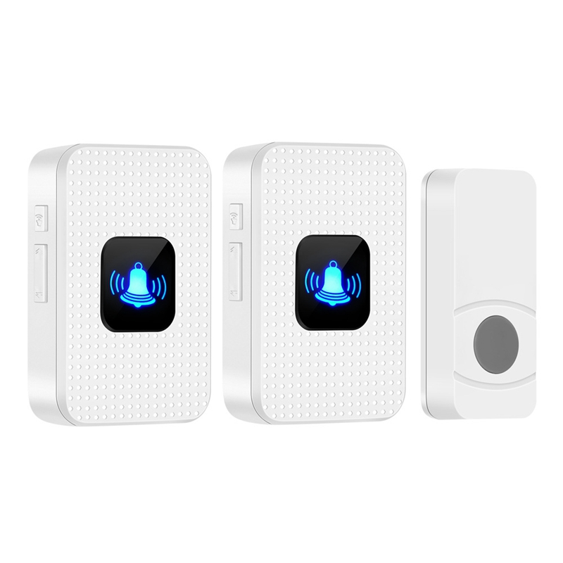ABKT-N628 Home Electronic Remote Control Music Wireless Mini Doorbell Long Distance One For Two Us Plug