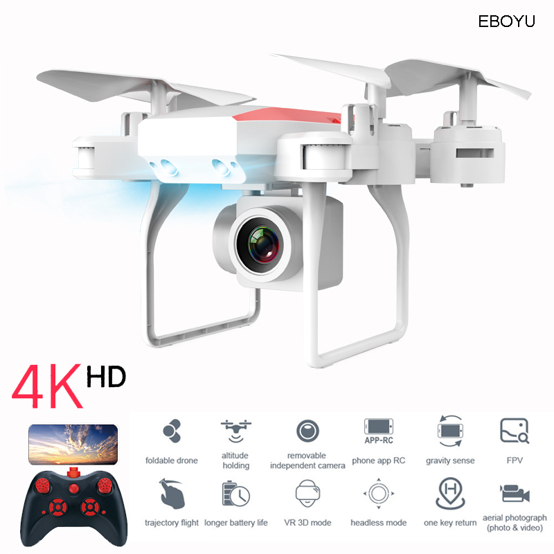 XKY KY606D 2.4Ghz RC Fold Drone Selfie Drone Wifi FPV 4K HD Camera Altitude Hold & Headless Mode RC Quadcopter Drone 20 min Fly|RC Helicopters|   - AliExpress