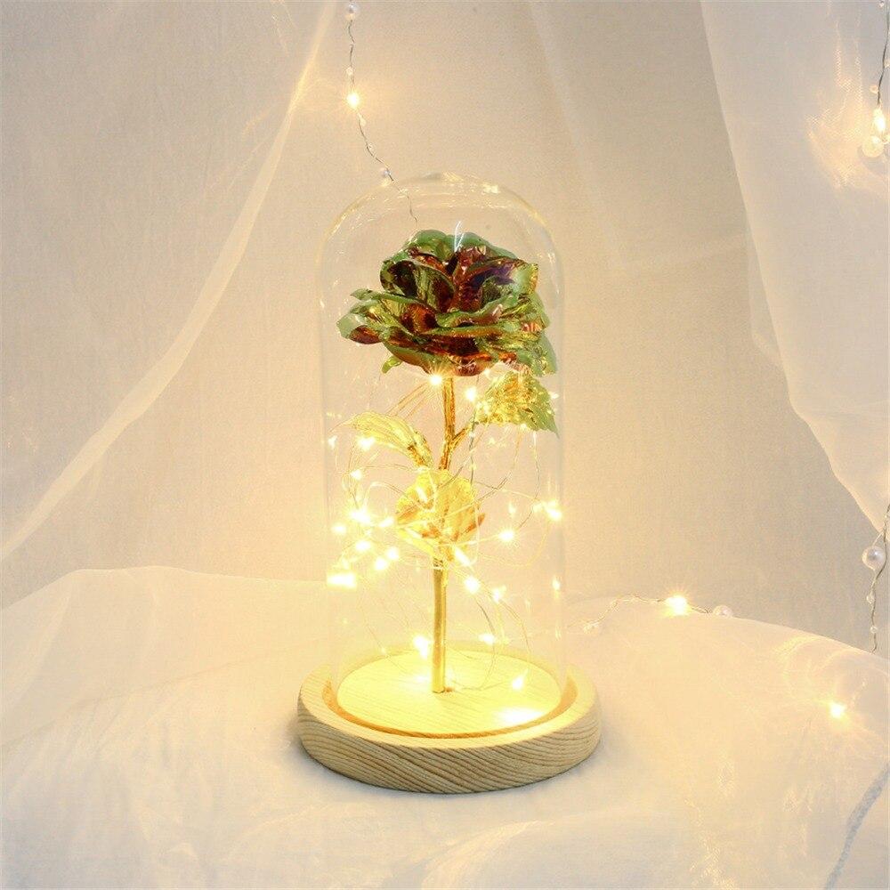 Eternal Flower Glass Cover Beauty And Beast Eternal Flower Rose In Flask 16