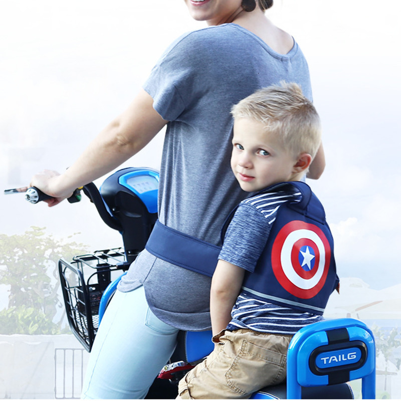 Children's Safety Belt Electric Car Seat Backpack Motorcycle Automobile Kangaroo Adjustable Padding Harness Reflective Belt