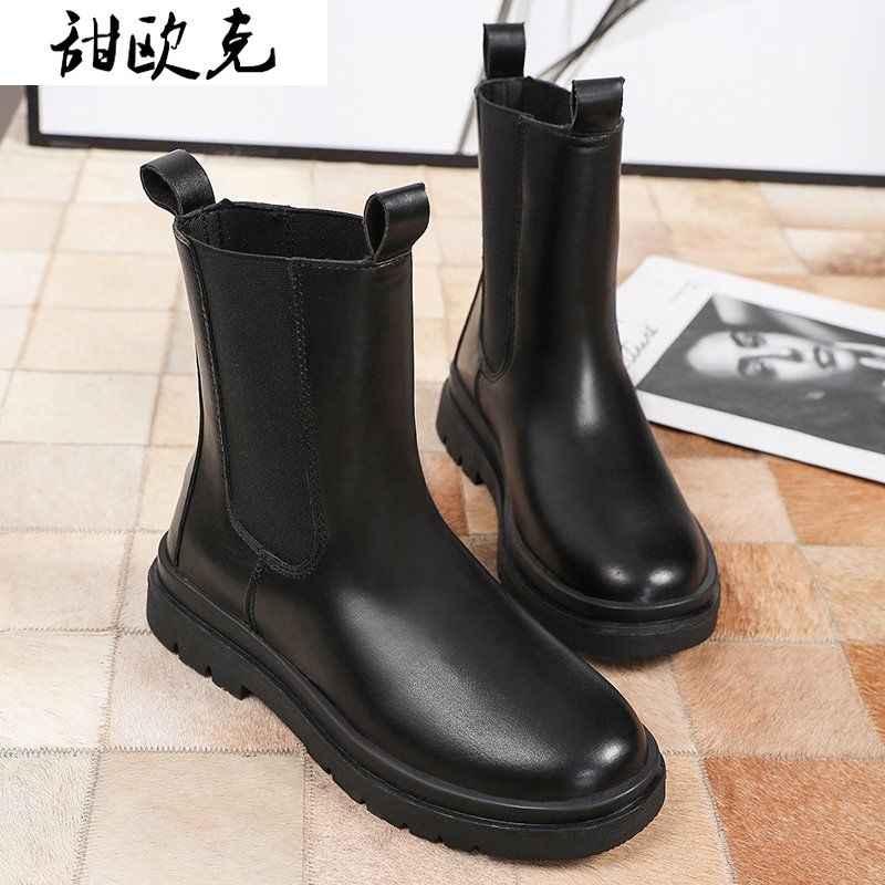 2020 Mewah Chelsea Boots Sepatu Bot Wanita Chunky Musim Dingin Sepatu Platform Ankle Boots Slip Pada Tumit Tebal BV Boot Merek desainer