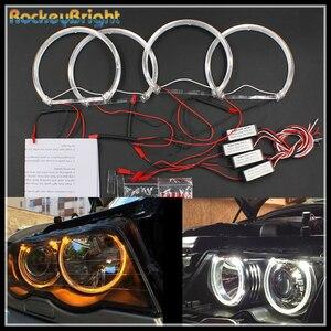Image 2 - Rockeybright 3000K 6000K Đèn LED SMD Đôi Mắt Thiên Thần Cho Xe BMW E46 E39 E38 E36 Máy Chiếu Đèn Pha Trắng Vàng E39 thiên Thần Mắt 4*131Mm Nhẫn