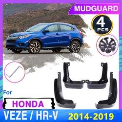 Car Mudflap Mudguard Fender for Honda HR-V Vezel 2014~2019 2015 2016 2018 HRV HR V Mud Splash Flaps Guards Car Accessories Goods
