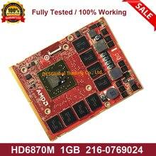 Original HD6870 HD6870M GDDR5 1GB 216-0769024 Video Graphics VGA Karte Für Dell Alienware M15X R2 M17X R2 r3 M18X Vollständig Getestet