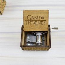 цены Hand Rotated Music Box Engraved Wood Music Box Interesting Craft Birthday Gift