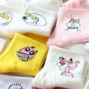 Hot High Quality Cute Elegant Lovely Kawaii Cartoon Sweet Harajuku Cotton Women Long Socks Animals Character Casual Short Socks
