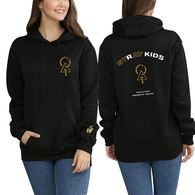 KPOP Stray Kids StrayKids Sweatshirt Hoodies District 9 Unlock Men And Women Hoodies Oversized Hoodie Plus Size 4XL Merchandise