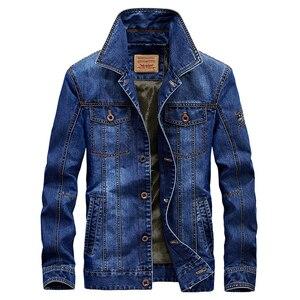 Image 3 - 2020 בתוספת גודל M 6XL חורף גברים של אופנה מזדמן סגנון צמר חם קאובוי מעיל מעיל גבר אביב סתיו ג ינס כחול מעילי מעילים