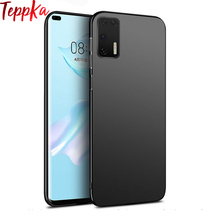 TeppKa For Huawei P40 Pro P40 Lite Phone Case Ultra Slim Matte Armor Hard Plastic Back Shockproof Case Cover For Huawei P40 Pro for cover huawei p40 case huawei p40 coque protective stylish smooth skin pc matte ultra thin phone case for huawei p40 cover