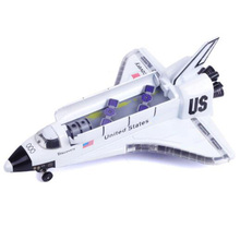 18.5CM US Spacecraft Airplane Spaceship Aircraft Columbia Alloy Metal Space Shuttle Model with Sound Light Toy Collective Model alloy plastic ufo spaceship model space craft 5pcs set