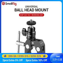 SmallRig DSLR Camera Super Clamp Holder w/ Ball Head Mount Hot Shoe Adapter For Gopro ,Camera Light , Monitor Attachment - 1124