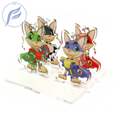 FANGQNGMAO 7CM Custom Free Design Clear Transparent Acrylic CNC Cut UV Printing Anime Stand for Figure Model Display