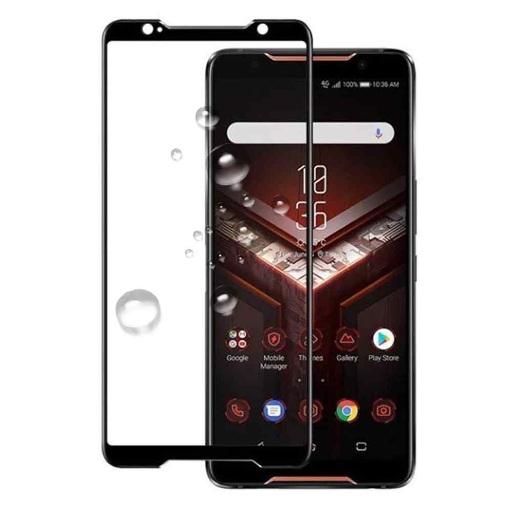 3D 9H מלא דבק כיסוי שחור מזג זכוכית עבור Asus Zenfone Rog 2 טלפון ZS600KL ZS660KL מסך מגן הגנה סרט זכוכית
