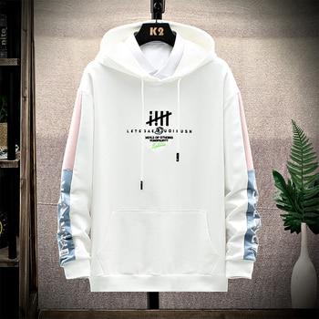 Harajuku letter print Sweatshirts Hoodies Streetwear 2020 Hip Hop Casual Loose Hooded Sweatshirt Tops Men toda mafalda print hoodies women men hooded sweatshirts harajuku hip hop hoodies sweatshirt streetwear tracksuit winter clothes