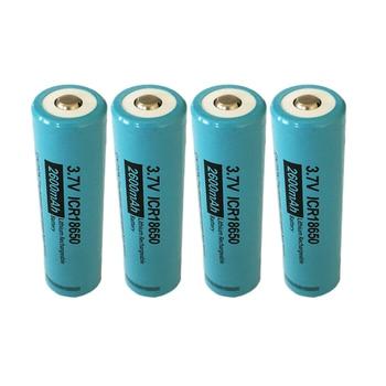 Hot Sale 4Pcs/lot PKCELL 18650 Battery 2600mah 3.7 v Li-ion Rechargeable Battery Batteries ICR 18650 Lithium Battery Button Top