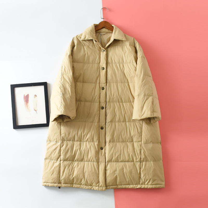 Shuchan Long Winter Down Jacket For Women 90%  White Duck Down Single Breasted Solid Warm Abrigos Mujer Invierno 2019 New