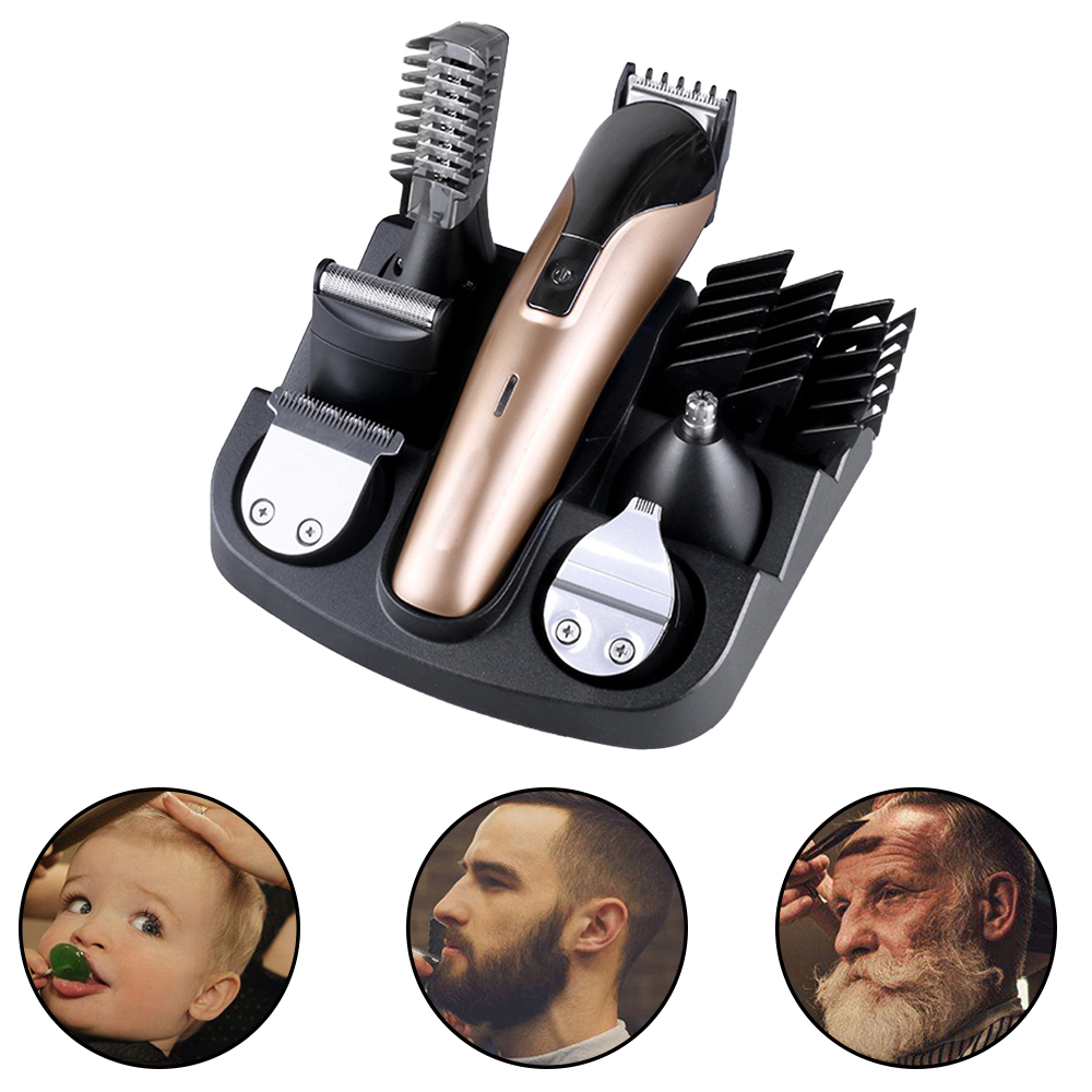 6 In 1 Professional Rechargeable Electric Hair Clipper Men Hair Clipper Kids Hair Clipper Adjustable Ceramic машинка для стрижки