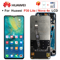 2312*1080 Original LCD With Frame For HUAWEI P30 Lite LCD Display Screen For HUAWEI P30 Lite Screen Nova 4e MAR-LX1 LX2 AL01