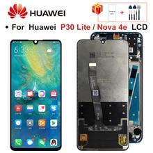 2312*1080 orijinal LCD için çerçeve ile P30 Lite LCD ekran ekran için HUAWEI P30 Lite ekran Nova 4e MAR LX1 LX2 AL01