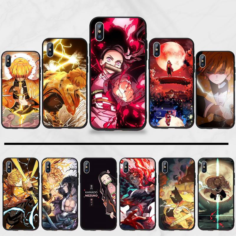 demon slayer <font><b>The</b></font> Blade of <font><b>Ghost</b></font> Destruction Phone <font><b>Case</b></font> cover <font><b>Shell</b></font> For iphone 5 5S SE 5C 6 6S 7 8 plus X XS XR 11 PRO MAX image