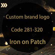 Logo de marque à paillettes dorées 281 – 320, autocollants lavables à transfert de chaleur sur vêtements, patchs à repasser