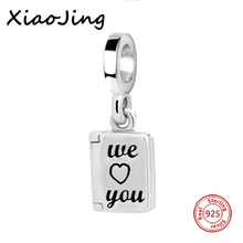 925 Sterling Silver Fit Authentic Pandora Charms Bracelets New Style We Love You Original Charms Beads Fashion Jewelry Gifts fit authentic pandora bracelet jewelry 925 sterling silver beads bound by love just married charms beads luxury love gifts