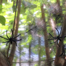Halloween Spider Web Bar Haunted House Horrible Props Decor Party Supplies Scary Cobweb Decoration