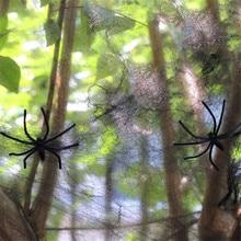 Teia de Aranha de Halloween Bar Casa Assombrada Adereços Horríveis Decoração Fontes Do Partido Assustador Teia De Aranha Dia Das Bruxas Decoração