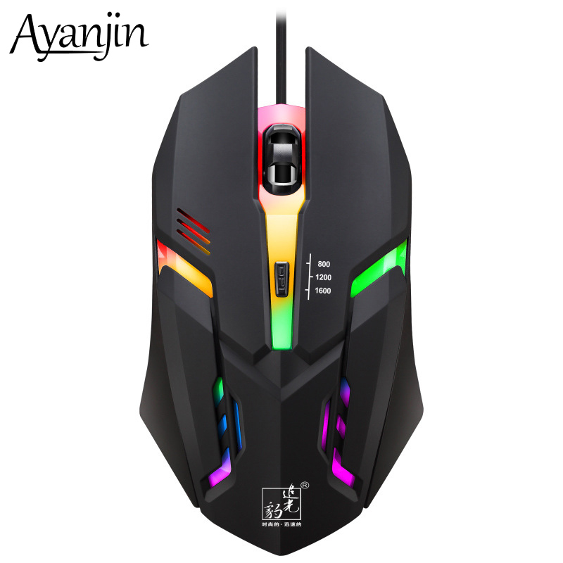 New Mouse Wired Gaming 3 Files DPI Optical PC Gamer Computer Office Mouse LED Color Light Ergonomic Hands Laptop Mice Game Mause