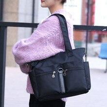 Women Fashion Solid Nylon Single Shoulder Zipper Crossbody Bag Waterproof Bags Handbags Bolso De Mano Mujer HW