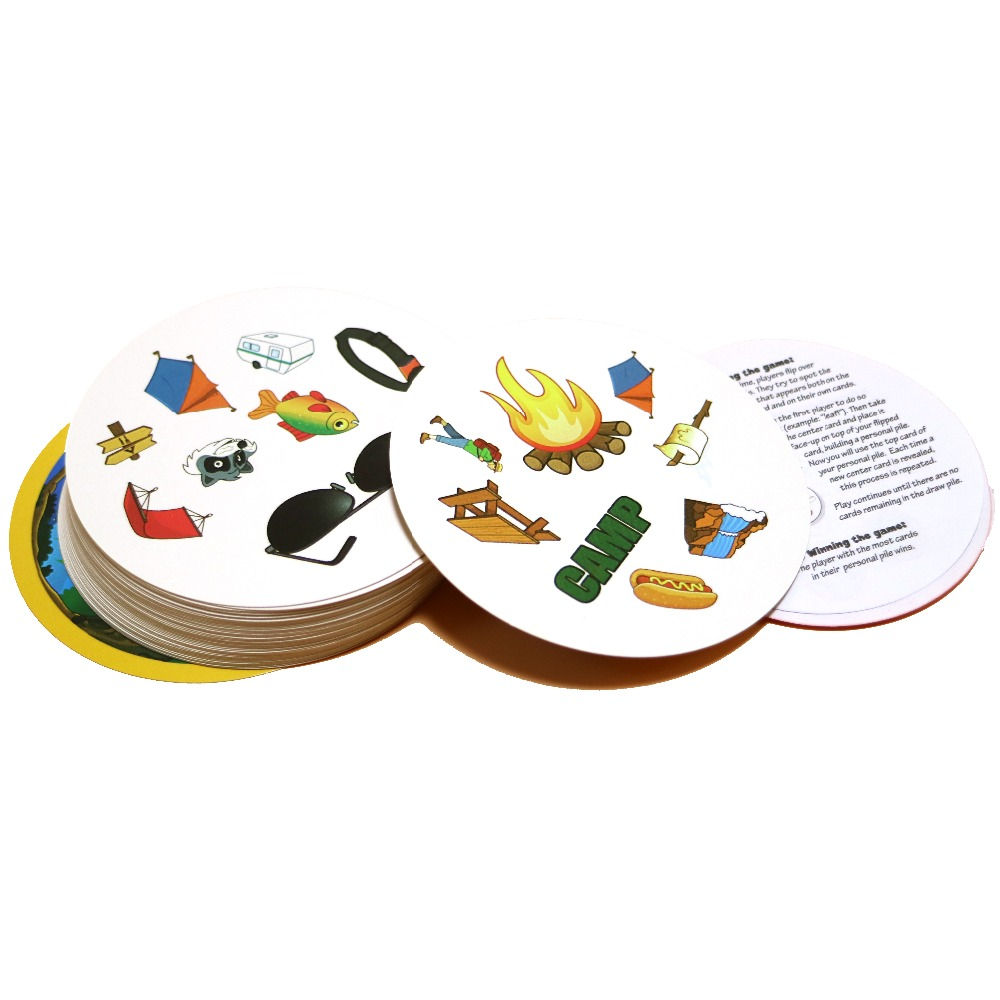70mm Spot Camping Board Game Double English Version Kids Love It Gifts For Family Party Fun Outdoor Card Game
