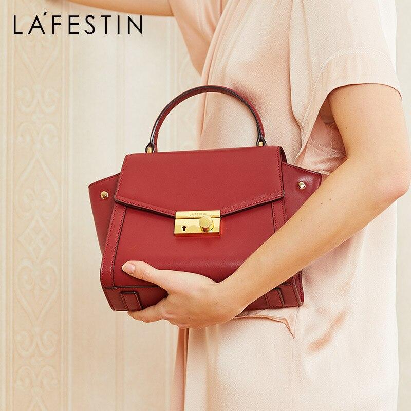 LA FESTIN luksusowa projektanta torebka 2018 nowy torebki ze skóry wołowej torby na ramię Messenger torby dla kobiet bolsa feminina w Torby z uchwytem od Bagaże i torby na  Grupa 1