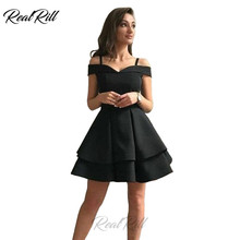 Real Rill Off The Shoulder Homecoming Dresses Spaghetti Straps Lace Up Back Mini Short Satin Graduation
