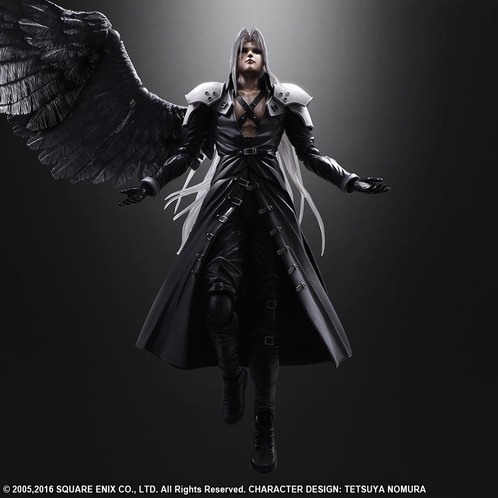 <font><b>Final</b></font> <font><b>Fantasy</b></font> <font><b>7</b></font> Sephiroth Action Figures Play Arts Collectible Model Toy 25cm image