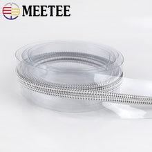 4/8M Meetee 5# PVC Nylon Zippers for Sewing DIY Zip Sports Raincoat Pencilbag Cosmetic Bag Zips Garment Accessories
