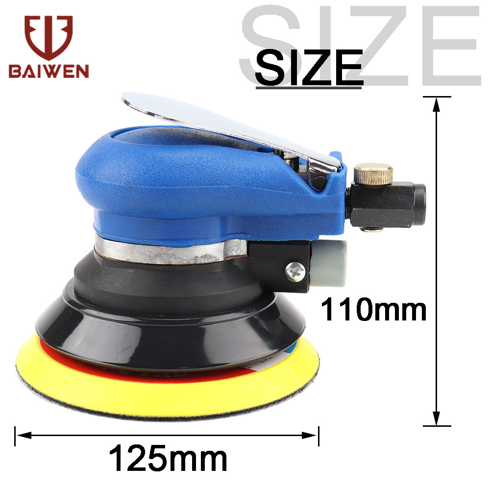 5Inch  Grinding-Machine Hand-Tools Sander Polisher Air Powered Orbit Polisher Dual Action Polishing Grinding Sanding Set