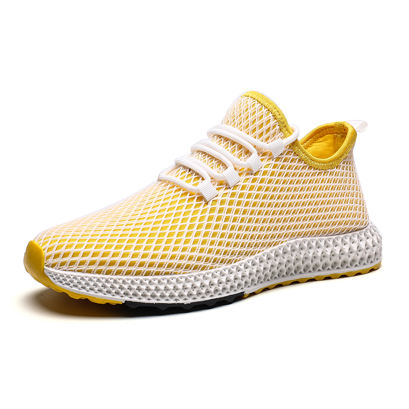 HEFLASHOR Men Shoes Summer Sneakers Breathable Casual Shoes Mesh Flats Shoe Running Man Outdoor Shoes