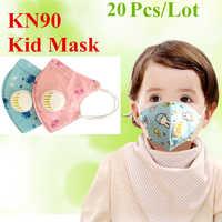 20pcs/30pc Cartoon Kid PM2.5 Dust Mask Children's Breathing Valve Anti-fog Breathable Anti Fog Mask PM2.5 Dust Mask Color Random