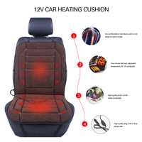 Car Seat Cover Electric Heating Pad Quick Car Heating Pad Vehicle Backrest DC 12V 36W 45W Brown Heated Seat Cushion